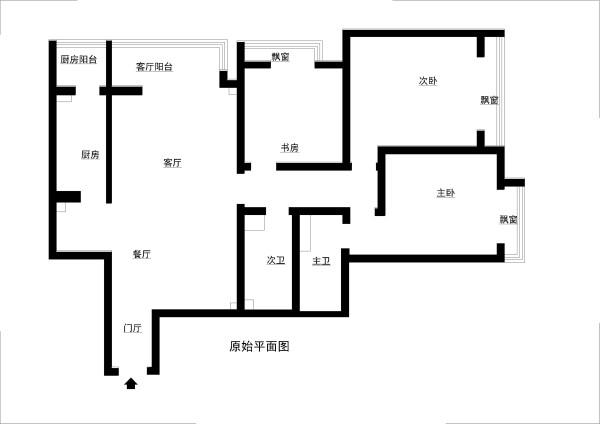 房山区碧桂园小区140平米原始户型图