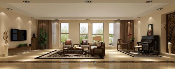 客厅较小,显得与房子的整个比例不搭,不够大气开阔。