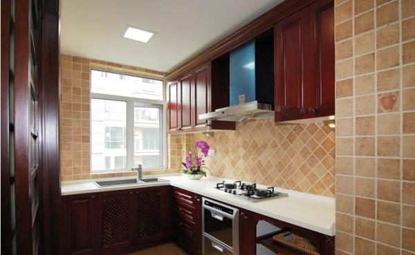 中式装饰厨房设计效果图