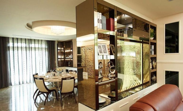 保利星座-二居室-114平米-餐厅装修设计  装饰与使用于一体的餐厅空间