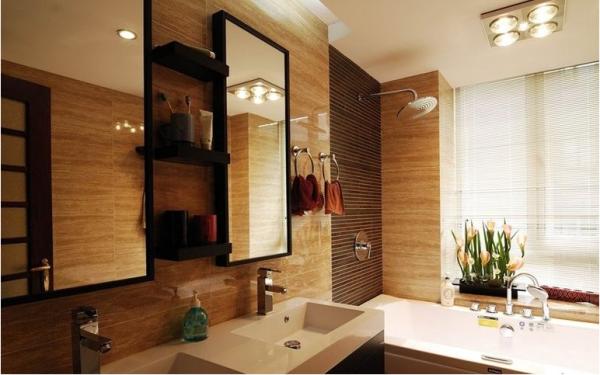 中式装饰卫生间设计效果图