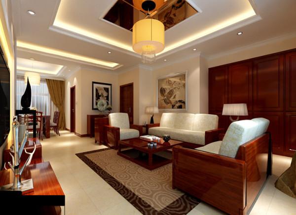 客厅的沙发墙以简洁的线条为主,没有了电视墙 那么大层次感,不过那幅挂画给人一种回归大自然的轻松感。