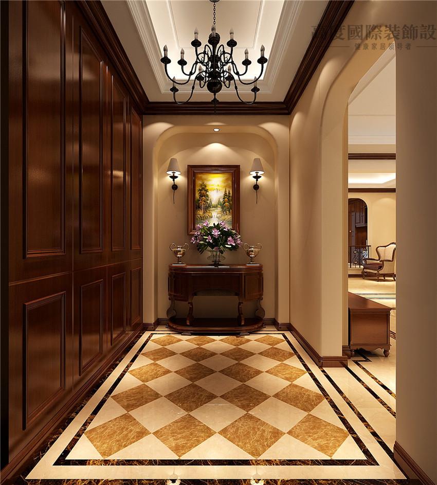 美式家园室内设计新新图片来自别墅豪宅装修国际别墅高度装饰效果图别墅装修玄关图片