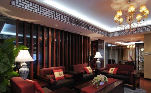 中式装饰客厅设计效果图