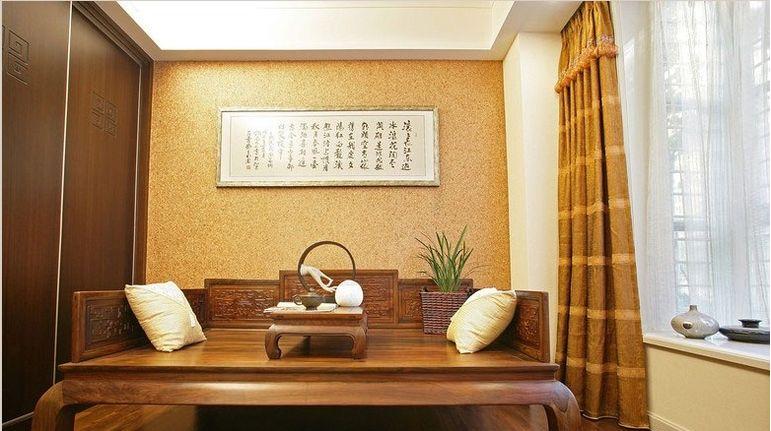 新中式风格在设计上延续了明清时期家居配饰理念,提炼图片
