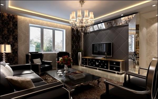 【西安朗汇装饰】后现代装修风格客厅效果图赏析
