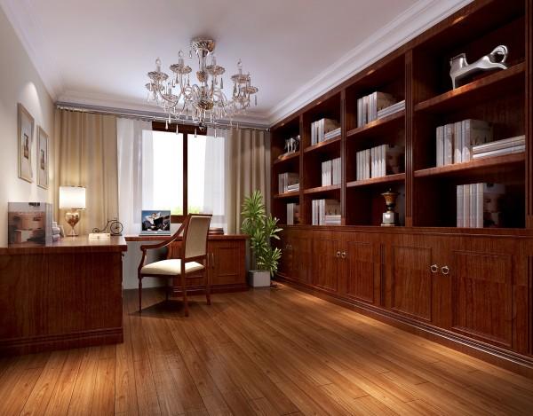 木制的书柜桌椅更显书香气质浓厚