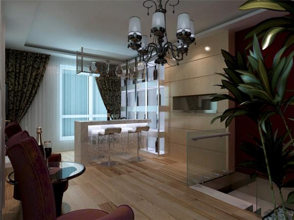 小吧台放置阳台更加富有情调,运用玻璃、金属,把现代感发挥的淋漓尽致!