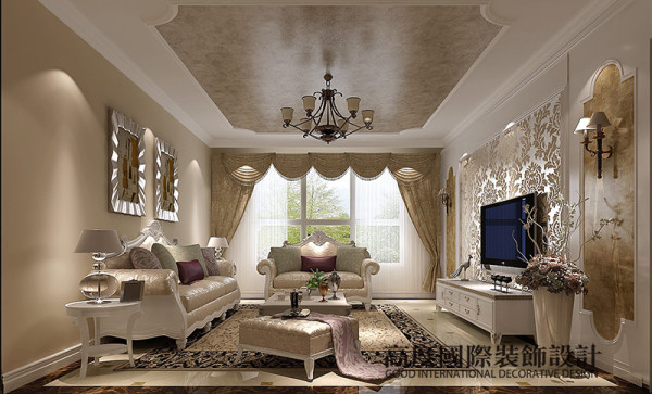 美的地毯、多姿曲线的平安家具,让室内显示出豪华、富丽的特点。