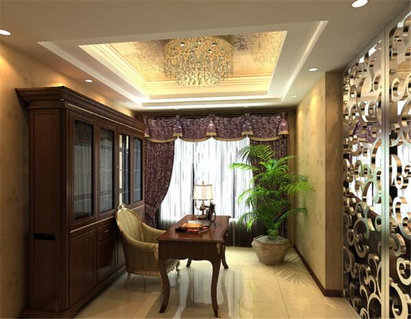 从设计的思想出发,首先是功能空间的划分,结构上做了略微的调整,客厅的电视背景采用了装饰性较强装饰古典元素的花色壁纸与边上的石材装饰框架,形成鲜明的对比,活悦中不失庄重