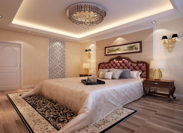 卧室背景的灯饰设计具有西方风情的造型,比如壁灯,在整体明快、简约、单纯的房屋空间里,传承着西方文化底蕴的壁灯静静泛着影影绰绰的灯光,朦胧、浪漫之感油然而生