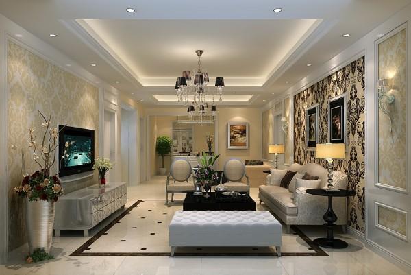 """简欧风格继承了传统欧式风格的装饰特点,吸取了其风格的""""形神""""特征,在设计上追求空间变化的连续性和形体变化的层次感,家具门窗多漆为白色,在造型设计上既要突出凹凸感,又要有优美的弧线。"""