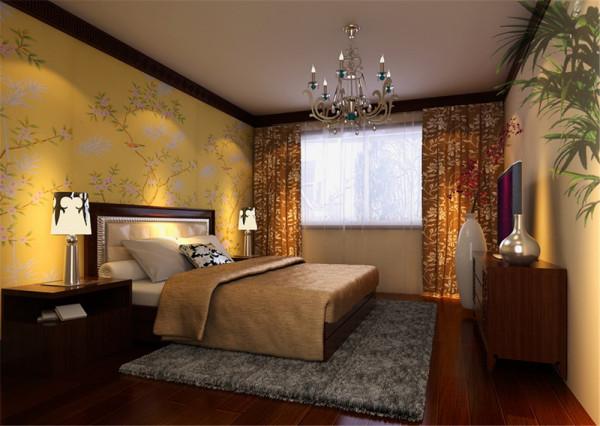 主卧室门通过现场做隐形门处理,这样使整个电影背景墙更整体化、更加大气;在整体空间中对材质、色彩、质地、细节的处理注入了自然美感,使整体环境温馨、浪漫、优雅、自然,体现出主人的品味和涵养。