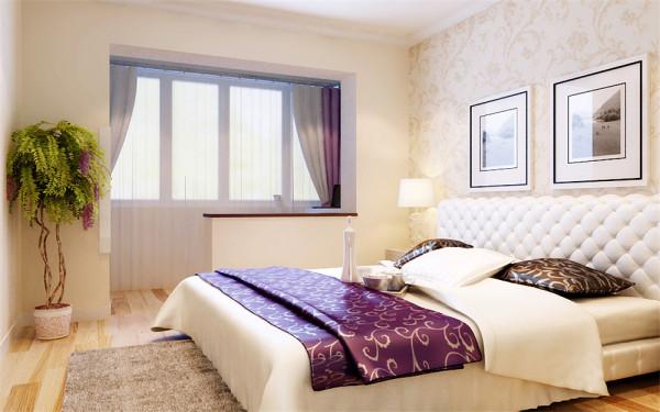 设计理念:卧室地面采用的是木地板。让人一进卧室就感觉很温馨的家,卧室是自己每天在家呆得到最长的地方,每天睡觉的地方,所以是最私密的。强调居家的实用性和舒适性,加上灯光的配合给整个空间营造出浪漫的气氛。