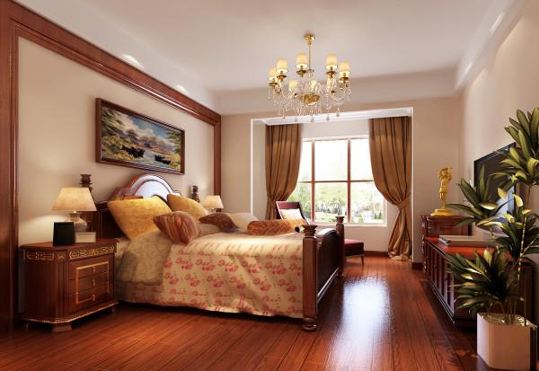 这样不仅使房间显得简约大气,还会省掉不少花销,并且还为以后的软留出了弹性空间,尽显主人的文化品味。