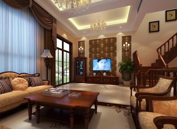 客厅在选材上多取舒适、柔性、温馨的材质组合,可以有效地建立起一种温情暖意的家庭氛围,