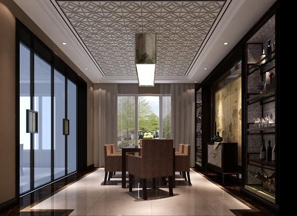 客厅与主卧以沉稳的木色调为主,儿童房则偏向恬淡的浅色系.电视背景墙选用大面积的白色铺底,不仅使人视线得到扩展,放松,更是体现了苏州园林空间设计中在有限的空间里制造纵深感的设计理念.