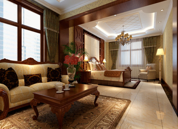 客厅的整体显得高端大气,在家庭中客厅是一个连接内外沟通客主情感和主人休闲的主要场所