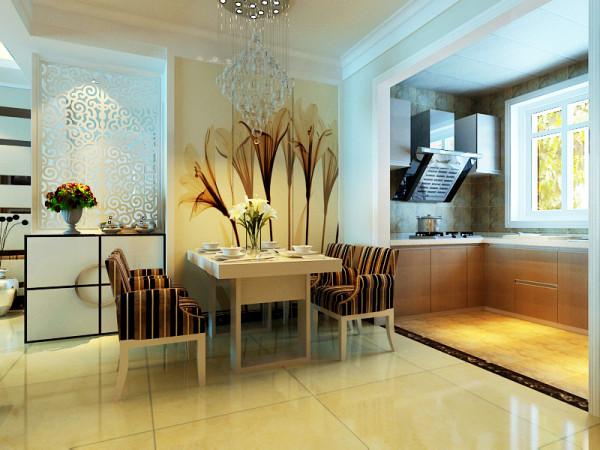 柏林怡园现代简约风格餐厅装修案例展示
