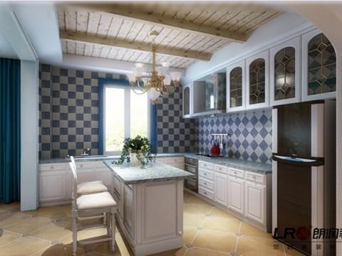 厨房是最最时尚的开放式格调,主人不太常常在家做饭,厨房更像是一个优雅的摆设,但是也是很美丽的摆设噢!