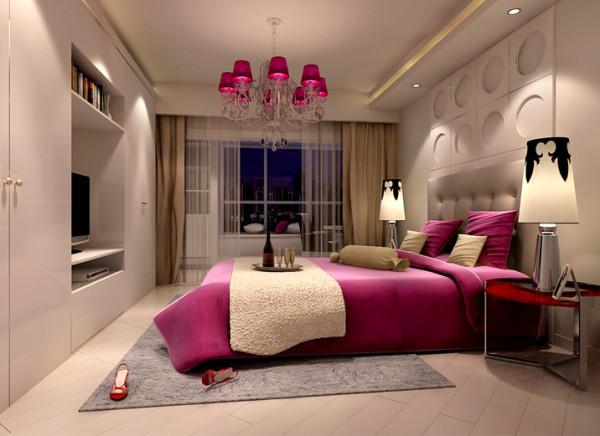 简约适用卧室的两侧留有灯带,与整体衣柜紧密衔接起来,不仅经济适用而且美观。