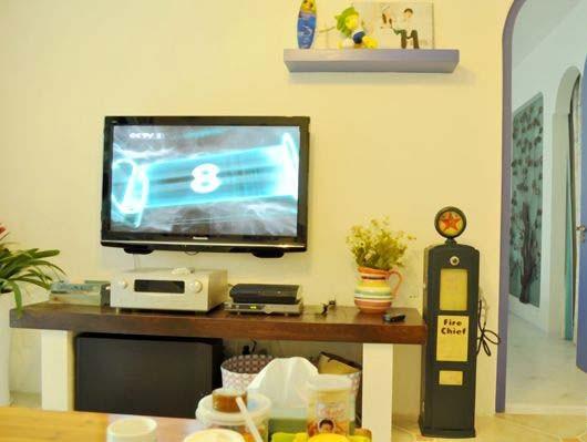 蔚蓝地中海装修完美呈现——电视背景墙