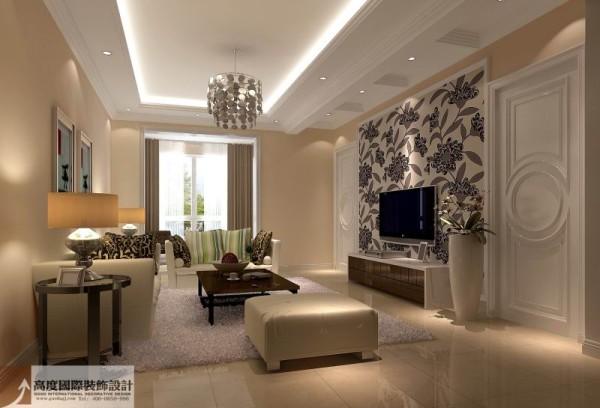 简单温馨,电视背景墙与电视中的影像动静结合