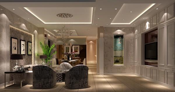 半圆的沙发将美式休闲的风格体现的淋漓尽致
