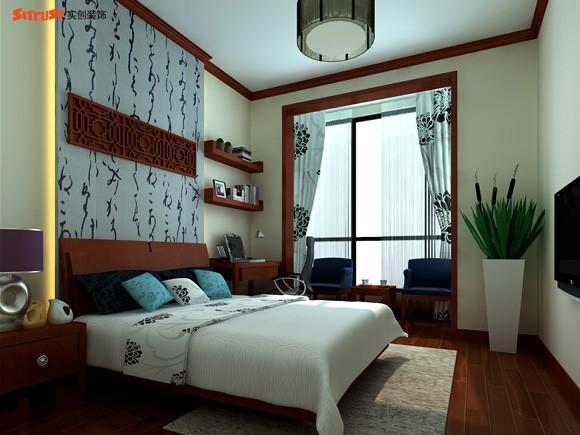 【成都实创装饰】—整体家装—复式楼盘装修—卧室装修效果图