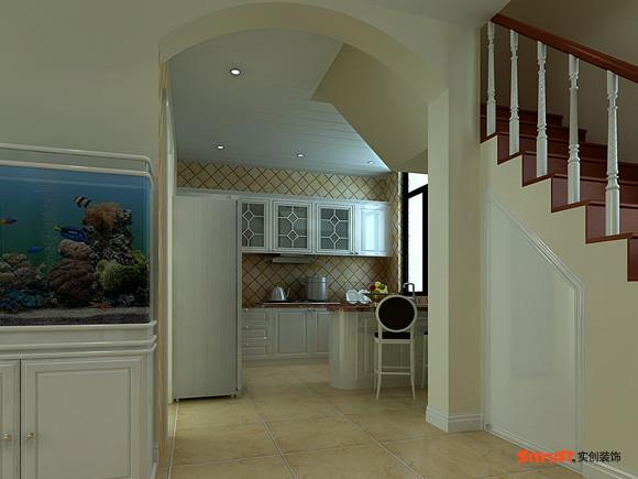 【成都实创装饰】—整体家装—复式楼盘装修—厨房装修效果图