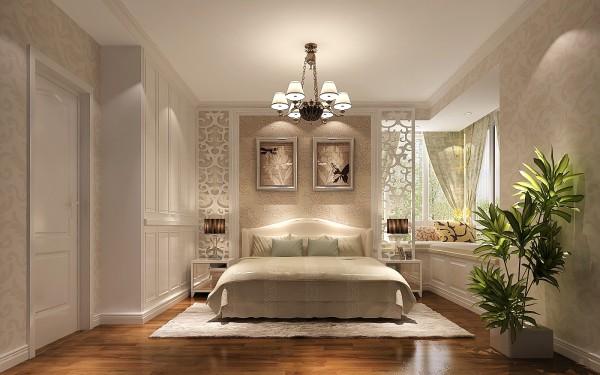 还有卧室的整体搭配,都在旁敲侧击的阐述一种温馨的欧式美。