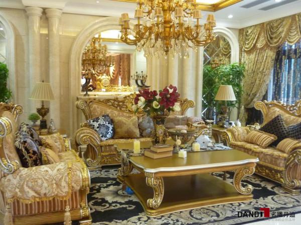 名雕丹迪设计-观澜翡翠湾别墅-欧式客厅