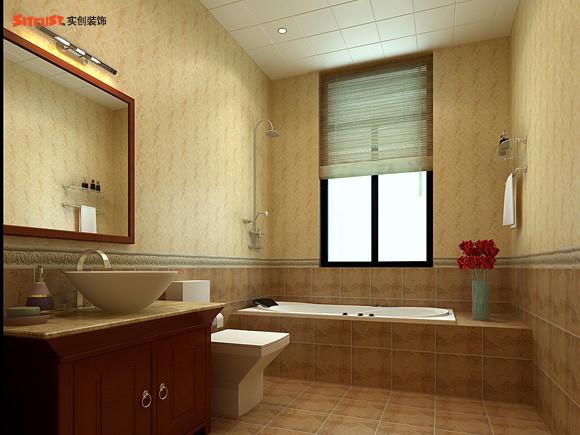 【成都实创装饰】—整体家装—复式楼盘装修—卫生间装修效果图