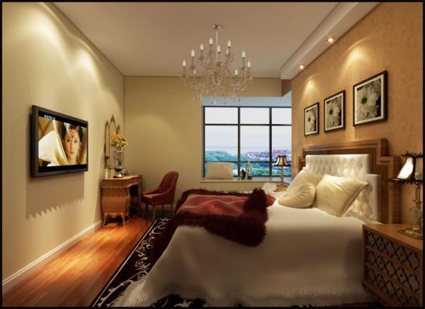 业主想卧室俏皮一点,不再是中式的中规中矩,于是运用了中欧家具的混搭,颜色和空间变得俏皮、独树一帜。