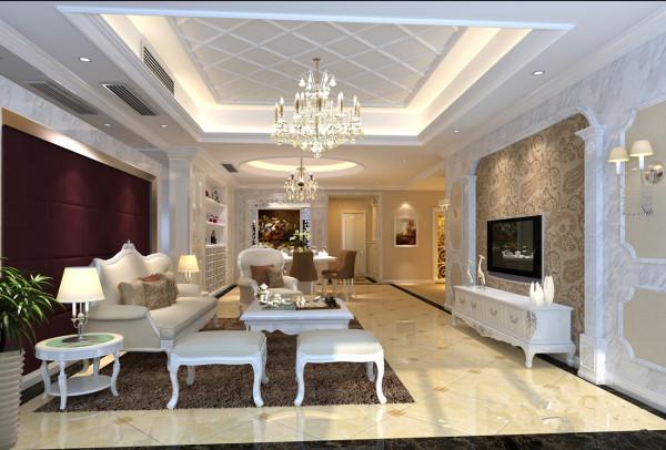 客厅主要是一些简易的造型与舒适的搭配,在色彩上更加轻快明亮,身心很放松!