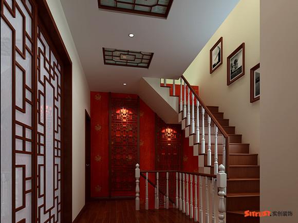 【成都实创装饰】—整体家装—复式楼盘装修—楼梯装修效果图
