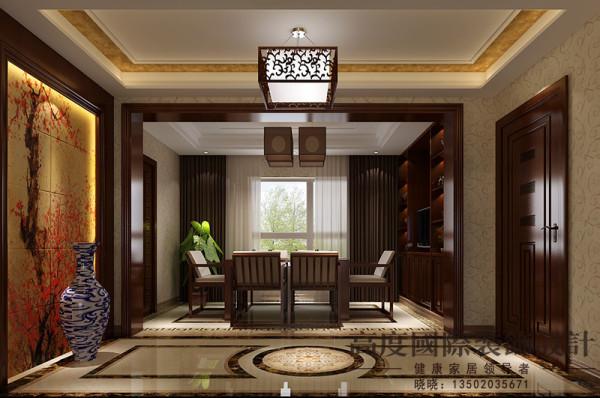 简洁而富有中式文化的涵韵,温馨而典雅,简单的中式元素运用中沉淀出中国传统文化的魅力。