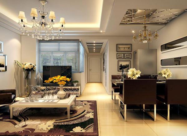 由于房型限制,屋子采光不好,所以运用一些镜子,这样会把屋变得更加的明亮。