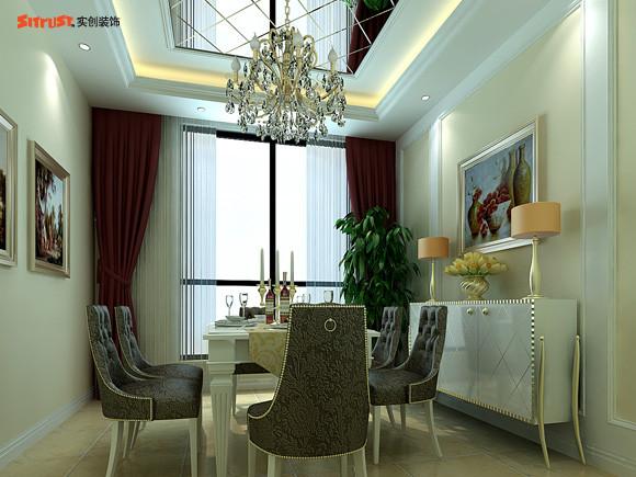【成都实创装饰】—整体家装—复式楼盘装修—餐厅装修效果图