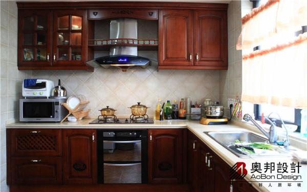 美式实木整体厨房