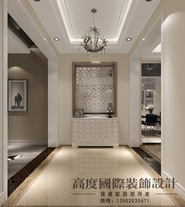 玄关是入户首先看到的地方,设计师在设计的时候比较大气,简单。背景用镂空的做装饰,很有特色。