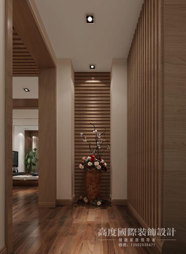简单得利索的规划,宽阔的空间,视觉舒展 放松,深木色竹子装饰墙面、一切都那么和谐舒适。