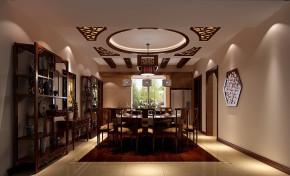 新中式 高度国际 三居 白领 80后 高富帅 白富美 公主房 小清新 餐厅图片来自北京高度国际装饰设计在东湖湾中国范的分享