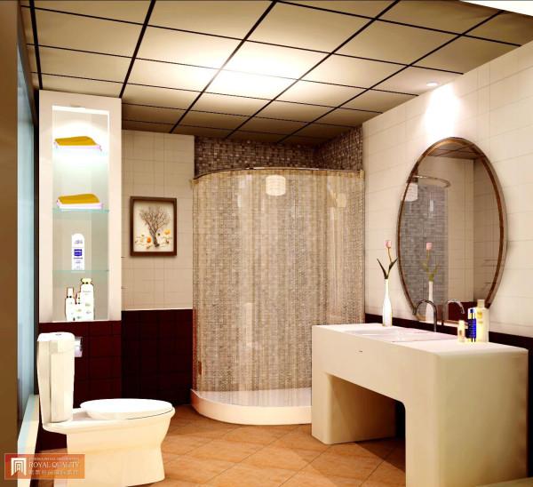 三居现代简约白领小资卫生间装修效果图片_装修美图