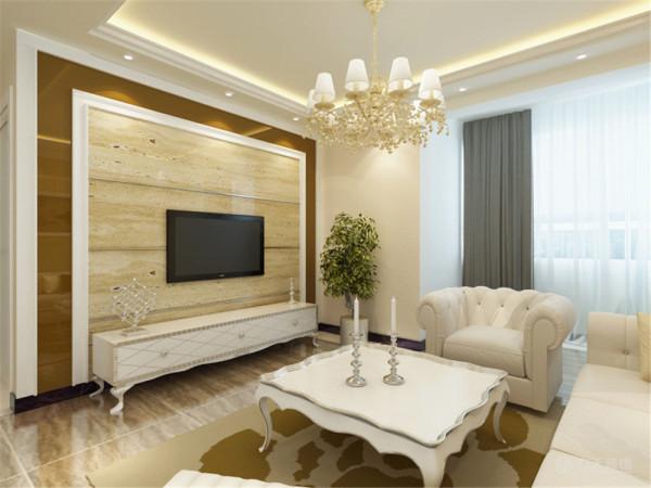 电视背景墙后面是主卧,主卧旁边是次卧,整体布局规整,通透明亮。