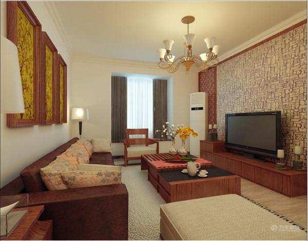 客厅的沙发墙后面是主卧区域,主卧飘窗。电视背景墙后面是次卧区域。