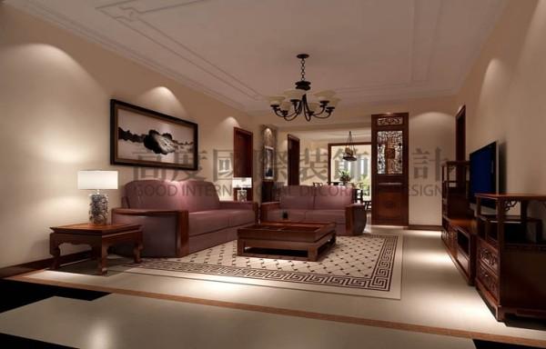 本案情况特殊,业主自有成品家具,设计师按照老家具来定位风格,硬装以现代简约为主,局部采用实木线条装饰,让现有家具成为主角,整个空间感特强。
