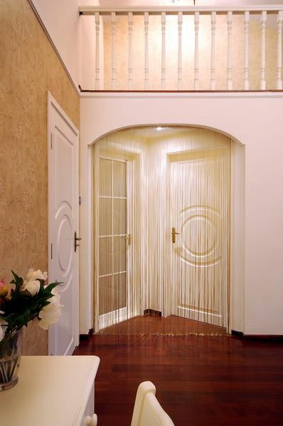 【成都实创装饰】—整体家装—现代欧式风格装修参考—复式楼盘装修—玄关装修效果图