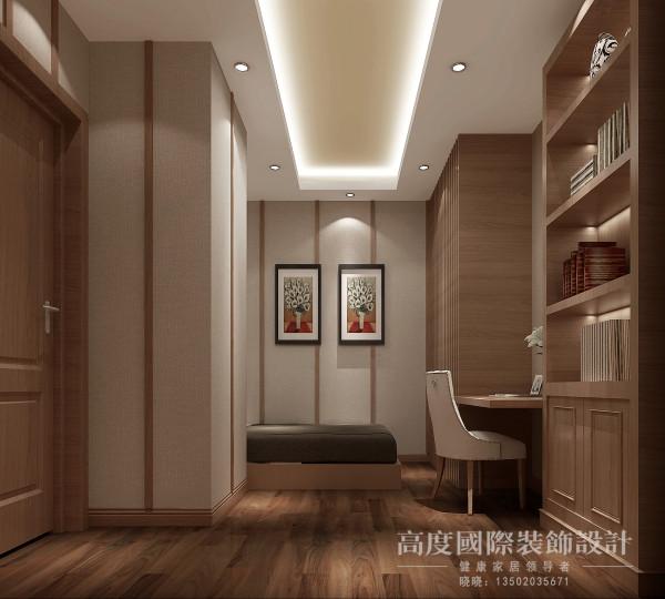 客卧兼书房,奢华可以舒适,可以实用,也可以贴近生活,传达出了既可以悠闲自在、也可以奢华的现代设计观。
