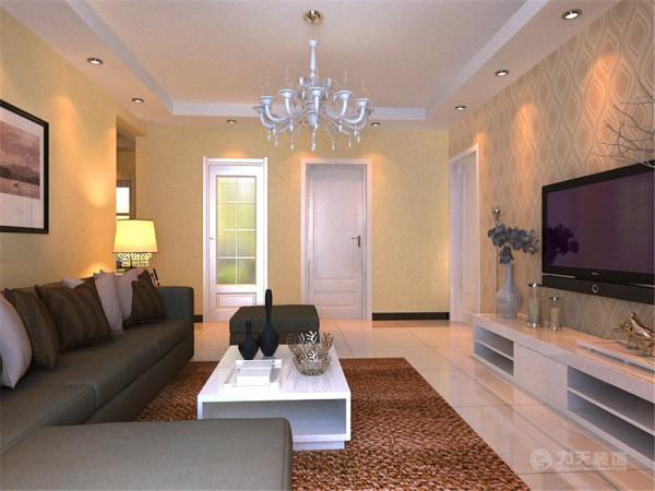 茶几选择了白色烤漆材质,地毯就选择了浅咖啡色的舒适地毯来呼应空间,及时尚又稳重。